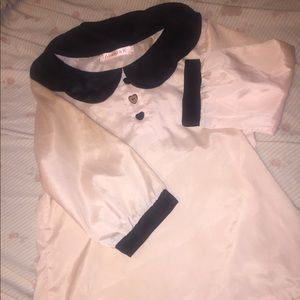 Silk pink shirt. Worn once.